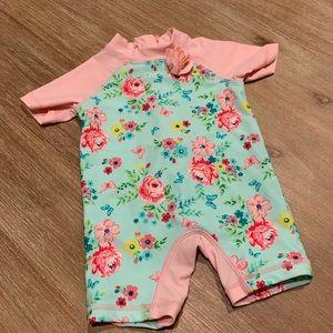 Little Me Floral Bathing Suit